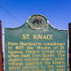 St. Ignace Historic Site sign,  - St. Ignace, Michigan