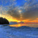 Winter Sunrise over Lake Michigan at Whitefish Dunes State Park, Wisconsin - Door County