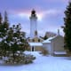 Winter morning at Cana Island Lighthouse in Door County, Wisconsin