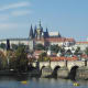 The royal route over Charles Bridge to Prague Castle.
