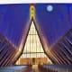 The unique chapel at US Air Force Academy in Colorado Springs, Colorado
