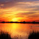 Sunset over Back Bay Wildlife Refuge in Virginia Beach, Virginia