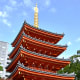 The vermilion pagoda of Tōchō-ji. A truly eye-catching traditional structure nested among modern skyscrapers. One of the most beautiful Fukuoka attractions too.