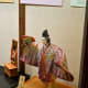 Classic Japanese dolls on the upper level of the museum.
