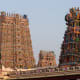 West tower of the Meenakshi Amman Temple