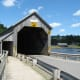 View of the two covered bridges.
