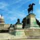 U.S. Capitol Building behind the Ulysses S. Grant Memorial in Washington DC