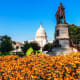 View of the U.S. Capitol Building from Garfield Circle in Washington DC