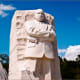 Martin Luther King Jr Memorial at the National Mall in Washington DC