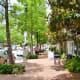 Midtown street scenery near Bagby Park