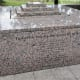 Another view of the granite monument with names of the fallen police officers.