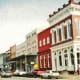 Buildings in the Strand area of Galveston