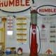 Humble gasoline pump & signs