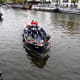 Open boat trip in Amsterdam.