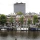 Houseboats opposite the Amstel Hotel.
