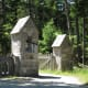 Gate to the carriage road near Jordan Pond House