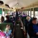 Inside the circa 1923 Pullman class train car.