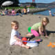 Crissy Field:  A great beach for the kids with the Golden Gate in the backround