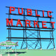 Pike Place Market sign in downtown Seattle