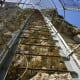 The ladder up Katskhi Pillar . . . would you climb it?