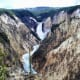 Lower Yellowstone Falls framed by the Grand Canyon at Artist Point in Yellowstone in Yellowstone National Park