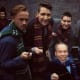 Warwick Davis (Professor Flitwick) shared an image from the same event with Tom Felton, James and Oliver Phelps and Evanna Lynch.