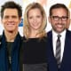 Actors rejected from SNL: (From left) Stephen Colbert, Jim Carrey, Lisa Kudrow and Steve Carell.