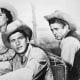 Elizabeth Taylor, Rock Hudson & James Dean in Giant.