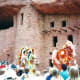 Indians dancing at Manitou Cliff Dwellings