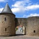 Fortified medieval gate of Sierck, Rodemack, France