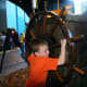 "Spinning a ship's wheel. Both boys liked this little ""island."""
