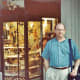 My hubby standing outside a small jewelry store in Las Ramblas.
