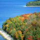 Fall colors at Peninsula State Park in Door County