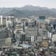 Seoul from Nam San Park.