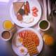 Irish breakfast at The Lodge, Doolin, Ireland