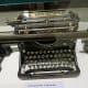 Underwood typewriter on display