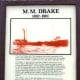 M. M. Drake display at the Great Lakes Shipwreck Museum in Whitefish Point, Michigan.