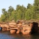 The seacaves at Devils Island in the Apostle Islands National Lakeshore., Wisconsin
