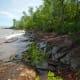 Lake Superior shoreline in Porcupine Mountains Wilderness State Park, Michigan