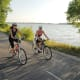 Biking on the Fox River Trail in Green Bay, Wisconsin
