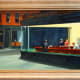 Nighthawks by Edward Hopper - a painting at the Art Institute of Chicago