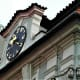 Hebrew clock on the Jewish Town Hall.