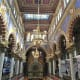 Colorful interior of Jerusalem Synagogue.