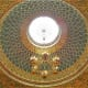 Lighting in the Spanish Synagogue.