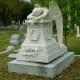 Angel of Grief sculpture used on Hill Monument in Glenwood Cemetery