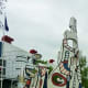 Another view of the sculpture by Jean Dubuffet