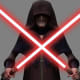 Darth Sidious with two lightsabers