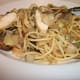 Lo Mein- Stir fried cabbage, onions and mushrooms with grilled chicken and noodles