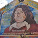 Mural commemorating Hunger Striker Bobby Sands, MP, on the gable wall of Sinn Féin's party offices on the Falls Road in Belfast.