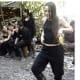 Tanja Nijmeijer dancing in the jungle with other FARC guerrilla members.